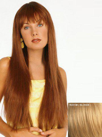 Best Foreign Trade Super Quality Full Bang Layered Glossy Long Straight Stylish Women's Natural Human Hair Wig