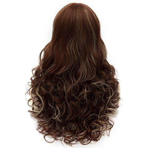 Chic Shaggy Wave Elegant Long Side Bang Capless Heat Resistant Fiber Wig For Women - RED BROWN MIXED M33L/35/1531#  Mobile