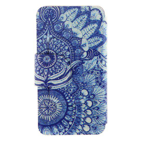 Chic Kinston Retro Sunflower Eye Pattern PU Leather Full Body Cover with Stand for iPhone 6 Plus -   Mobile