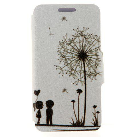 Fashion Kinston Dandelion Pattern PU Leather Full Body Cover with Stand and Card Holder for iPhone 6 Plus - 5.5 inch