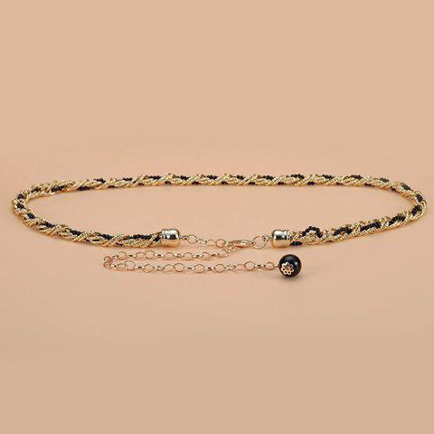 Best Chic Small Ball Pendant and Alloy Splice Embellished Waist Chain For Women - BLACK  Mobile