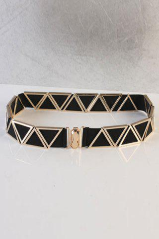Unique Chic Triangle Embellished Elastic Waistband For Women