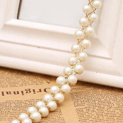 Shop Chic Pendant Embellished Faux Pearl Waist Chain For Women - MILK WHITE  Mobile