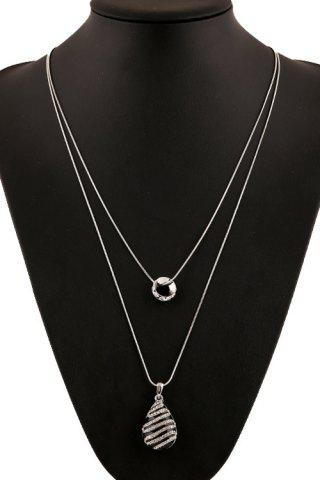 Shop Delicate Rhinestone Inlaid Color Glazed Drop Necklace For Women