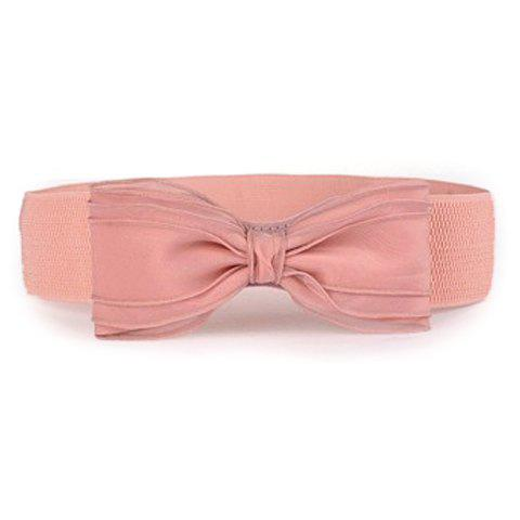 Buy Chic Yarn Bow Embellished Elastic Waistband For Women