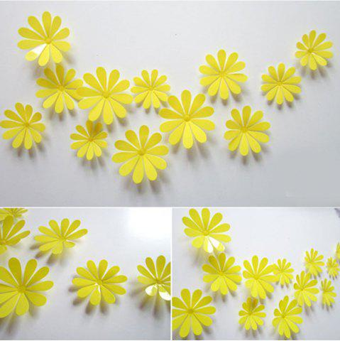Affordable DIY 3D Flowers Wall Sticker Mirror Art Decal PVC Paper for Home Showcase - 12Pcs