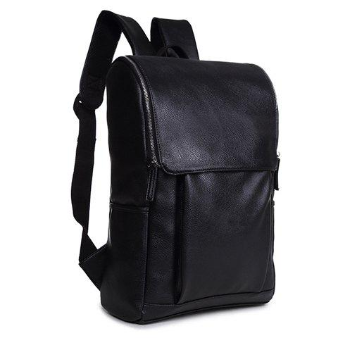 Outfits Stylish PU Leather and Zipper Design Men's Backpack