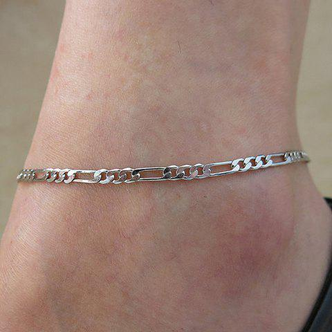 Latest Simple Solid Color Anklet For Women - SILVER  Mobile