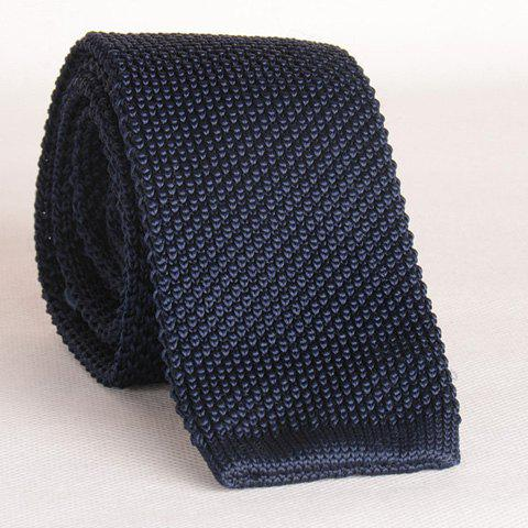 Hot Stylish Cadet Blue Knitted Neck Tie For Men