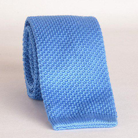 Shop Stylish Light Blue Knitted Neck Tie For Men