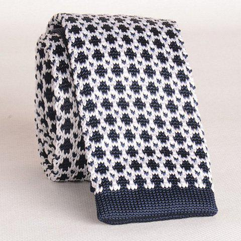 Stylish Mesh Pattern Knitted Neck Tie For Men - Cadetblue