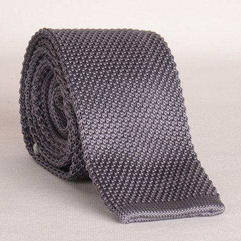 Chic Stylish Gray Knitted Neck Tie For Men