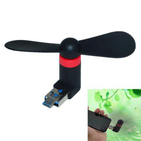 Affordable USB 2.0 to Micro USB Mini 2-Blade Fan for PC Laptop