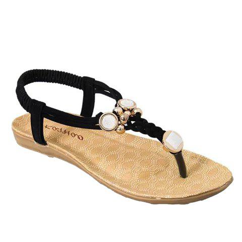 Fancy Simple Style Weaving and Metal Design Women's Sandals