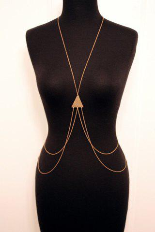 Hot Laconic Triangle Layered Body Chain For Women - GOLDEN  Mobile