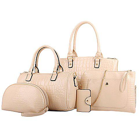 Online Stunning PU Leather and Crocodile Print Design Women's Tote Bag