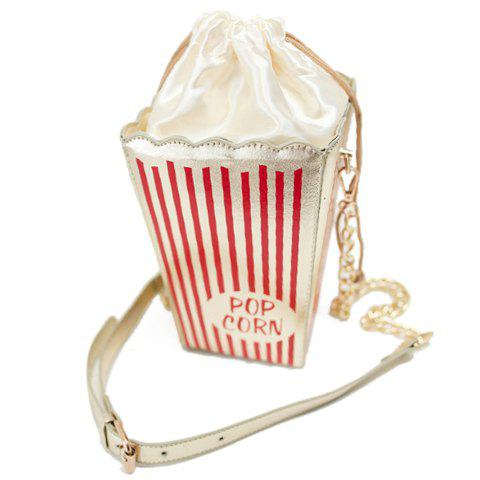 Outfit Fashion Style Popcorn Pattern and Chain Design Women's Crossbody Bag