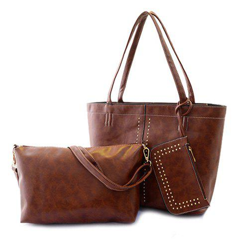 Fashion Fashion Style Rivets and Zipper Design Women's Vintage Bag