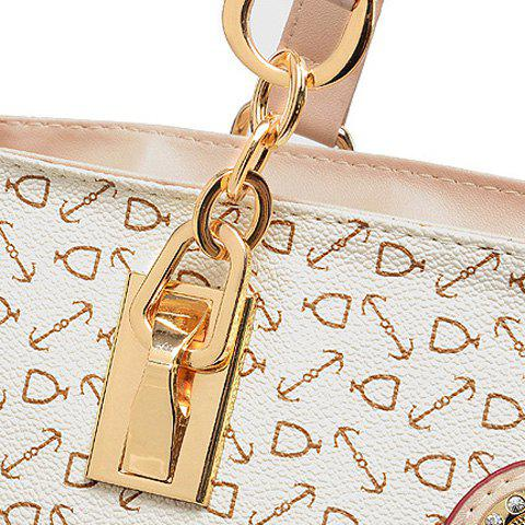 Outfit Elegant Arrow Print and PU Leather Design Women's Shoulder Bag - BROWN  Mobile