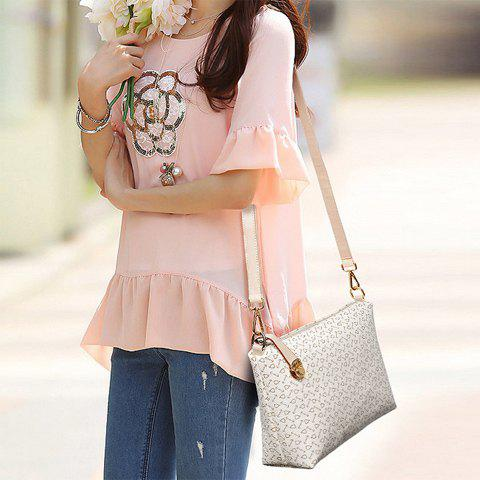 Hot Elegant Arrow Print and PU Leather Design Women's Shoulder Bag - OFF-WHITE  Mobile