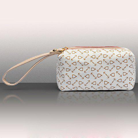 Online Elegant Arrow Print and PU Leather Design Women's Shoulder Bag - OFF-WHITE  Mobile