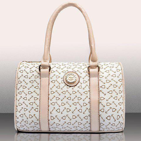 Cheap Elegant Arrow Print and PU Leather Design Women's Shoulder Bag - OFF-WHITE  Mobile