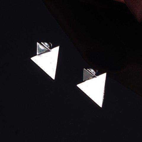 Affordable Asymmetric Triangle Stud Earrings SILVER