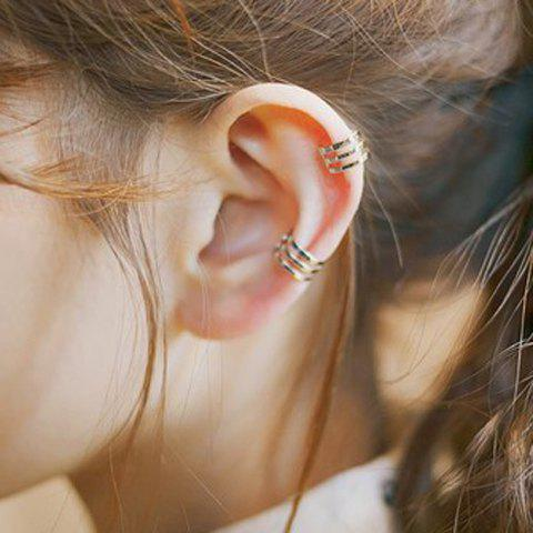 Shops Pair of Characteristic Multi-Layered Punk Style Clip Earrings For Women