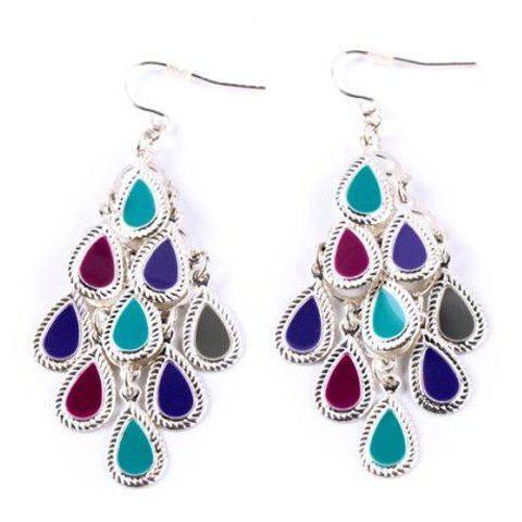 Online Pair of Classic Drop Shape Earrings For Women