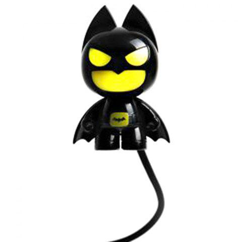 Store Batman Style USB LED Nightlight Creative Eyeshield Table Lamp Home Decoration - YELLOW AND BLACK  Mobile