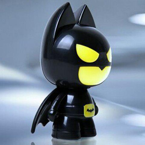 Shops Batman Style USB LED Nightlight Creative Eyeshield Table Lamp Home Decoration - YELLOW AND BLACK  Mobile