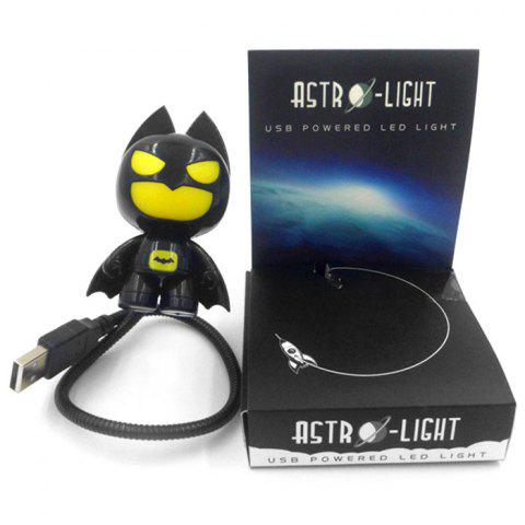Discount Batman Style USB LED Nightlight Creative Eyeshield Table Lamp Home Decoration - YELLOW AND BLACK  Mobile