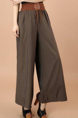 Outfits Fashionable Lace-Up Wide Leg Pants For Women