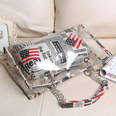 Shop Stylish Transparent and Splice Design Women's Tote Bag - GRAY  Mobile