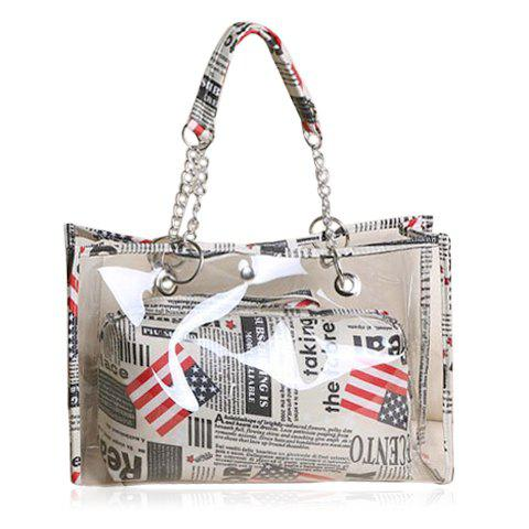 Sale Stylish Transparent and Splice Design Women's Tote Bag