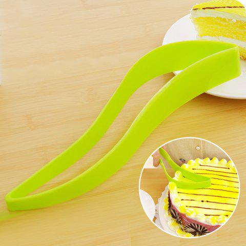 Outfits Cake Pie Server Slicer Sheet Eco-Friendly Cutter Bread Slice Knife Kitchen Gadget - GREEN  Mobile