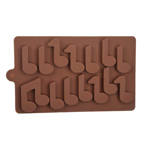 15 Cup DIY Silicone Music Notation Pattern Baking Mold for Cake   Biscuit   Chocolate   Soap