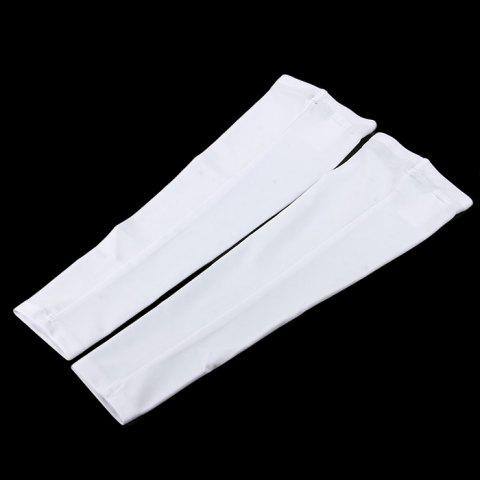Shops Top Cycling XXL Arm Sleeves Anti-UV Elbow Protection for Camping Hiking Cycling - WHITE  Mobile
