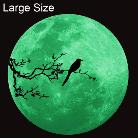Discount Magpie Style Fluorescent Moon Wall Stickers Creative Home Decoration Romantic Wallpaper for Bedroom / Living Room