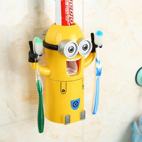 Pegman Binoculus Style Distributeur Automatique De Dentifrice Distributeur Squeezer Brosse À Dents Ensemble De Support