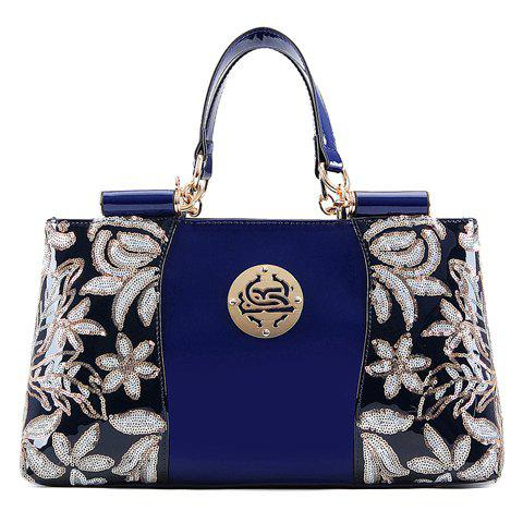 Sale Retro Flower Pattern and Sequined Design Women's Tote Bag