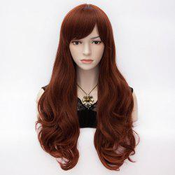 Fashion Towheaded Heat Resistant Synthetic Long Side Bang Wave Capless Daily Women's Wig -
