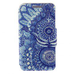 Kinston Retro Sunflower Eye Pattern PU Leather Full Body Cover with Stand for iPhone 6 Plus -