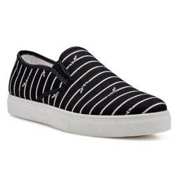 Casual Round Toe and Striped Design Women's Canvas Shoes -