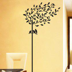 Willow Tree Design Wall Stickers Removable PVC Material Art Decals Home Appliances - BLACK