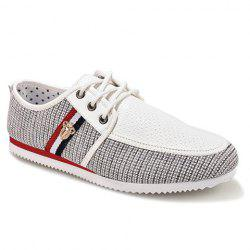 Stylish Style Splicing and Round Toe Design Men's Casual Shoes -