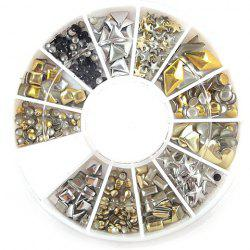 One Box Stylish Various Shape Solid Rivets DIY Nail Art Decoration For Women
