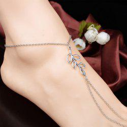Hollowed Leaf Anklet - SILVER