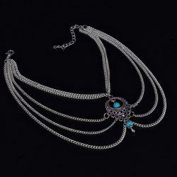 Ethnic Style Hollow Out Multi-Layered Anklet For Women - SILVER