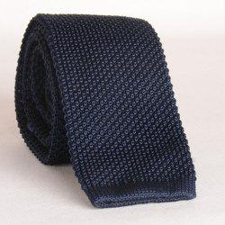 Stylish Cadet Blue Knitted Neck Tie For Men -
